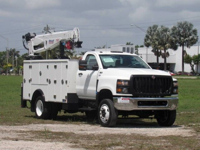 2019 International CV515 4X4 Utility Service Truck with Stellar 7621 Telescopic Crane Homestead FL