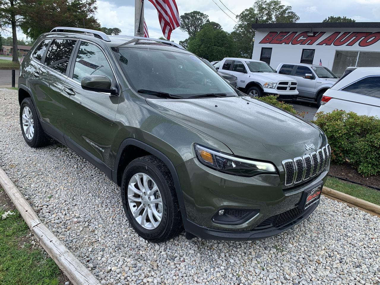2019 JEEP CHEROKEE LATITUDE 4X4, WARRANTY, SIRIUS SATELLITE RADIO, CLIMATE CONTROL, BACKUP CAM, BLUETOOTH, 1 OWNER! Norfolk VA