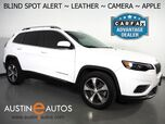 2019 Jeep Cherokee Limited *BLIND SPOT ALERT, BACKUP-CAMERA, COLOR TOUCHSCREEN, LEATHER, HEATED SEATS/STEERING WHEEL, POWER LIFTGATE, REMOTE START, APPLE CARPLAY