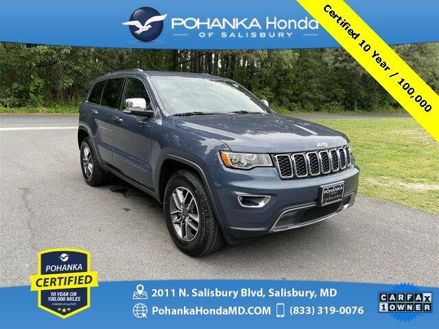 2019 Jeep Grand Cherokee Limited ** Pohanka Certified 10 Year / 100,000 ** Salisbury MD