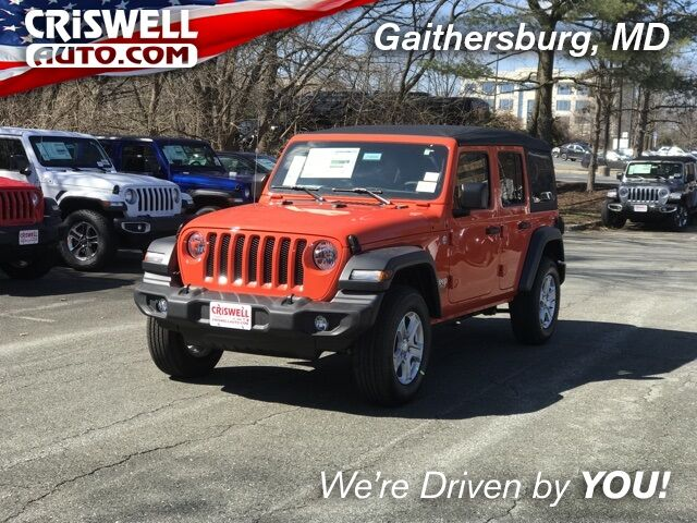 2019 Jeep Wrangler UNLIMITED SPORT S 4X4 Gaithersburg MD