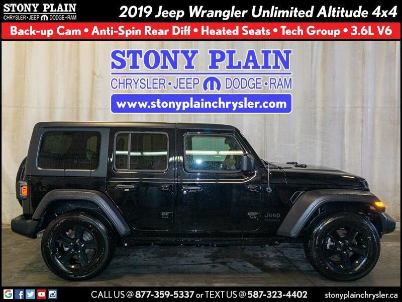 2019 Jeep Wrangler Unlimited Altitude Stony Plain AB