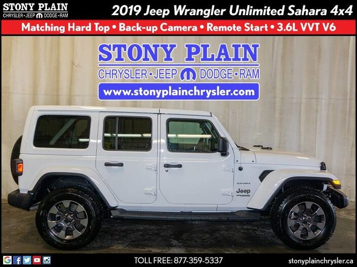 2019 Jeep Wrangler Unlimited Sahara Stony Plain AB