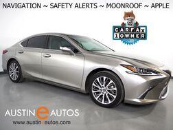 2019_Lexus_ES 350_*NAVIGATION, BLIND SPOT & LANE DEPARTURE ALERT, COLLISION ALERT w/BRAKING, ADAPTIVE CRUISE, BACKUP-CAMERA, MOONROOF, CLIMATE SEATS, 18 INCH WHEELS, APPLE CARPLAY_ Round Rock TX