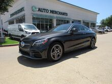 2019_Mercedes-Benz_C-Class_C300 4MATIC Coupe Panoramic Roof Back-Up Camera Blind Spot Monitor Bluetooth Connection Climate Cont_ Plano TX