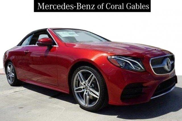 New 2019 Mercedes Benz E 450 Cabriolet In Coral Gables Fl