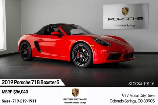 2019 Porsche 718 Boxster Boxster S Colorado Springs CO