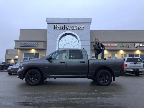 2019_Ram_1500 Classic_Express - Night Edition - Sport Hood - 3.92 Axle Ratio - 8 Speed Trans - Tow Package_ Redwater AB