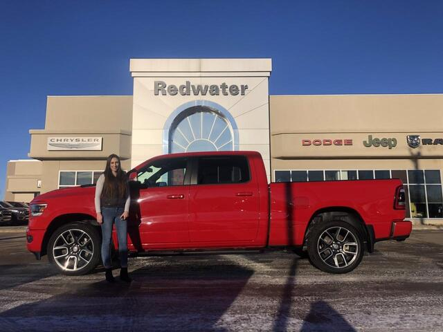 2019 Ram 1500 Sport 4X4 - 6ft Box - Panoramic Sunroof - Sport Hood - 8 Speed Trans - One Owner Redwater AB