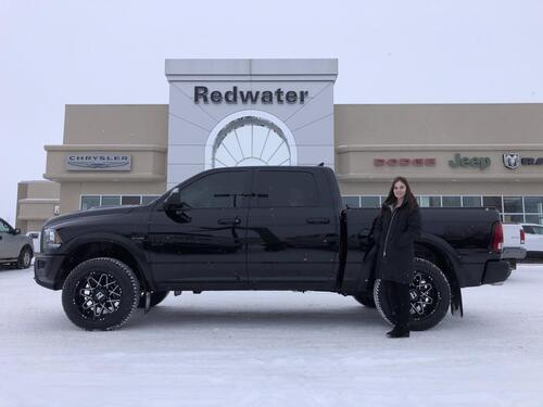 2019_Ram_1500_Warlock Crew Cab 4X4 Rig Ready Ram - Level Kit w/Rims and Tires - Power Sunroof - Nav - One Owner_ Redwater AB