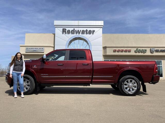 2019 Ram 3500 Limited - Cummins Diesel - 8ft Box - AISIN Transmission - Sunroof - One Owner Redwater AB