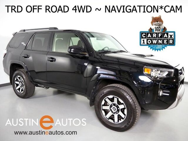 2019 Toyota 4Runner TRD Off Road 4WD *NAVIGATION, BACKUP-CAMERA, TOUCH SCREEN, STEERING WHEEL CONTROLS, ALLOY WHEELS, TOW, BLUETOOTH PHONE & AUDIO Round Rock TX
