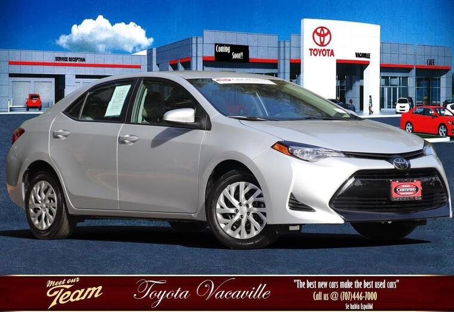 2019 Toyota Corolla Le Sedan Vacaville CA