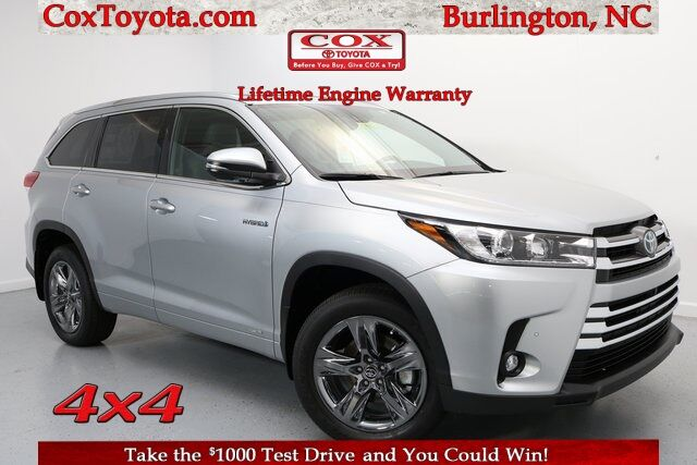 2019 Toyota Highlander Hybrid Limited Platinum Burlington NC