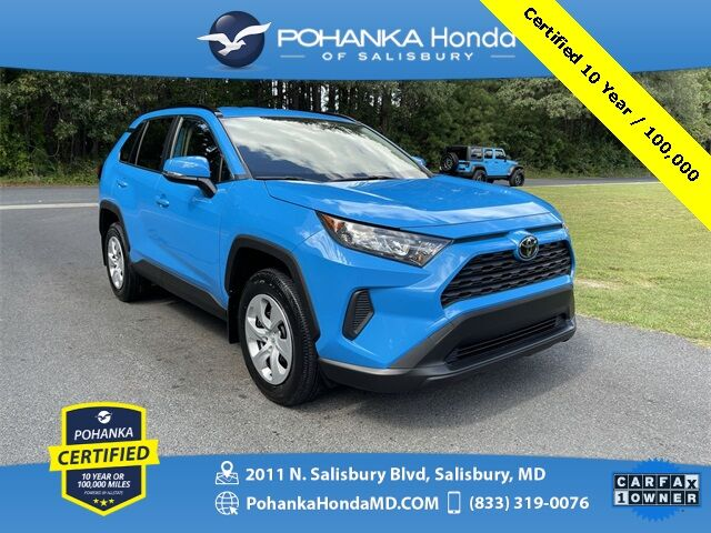 2019 Toyota RAV4 LE ** Pohanka Certified 10 Year / 100,000 ** Salisbury MD