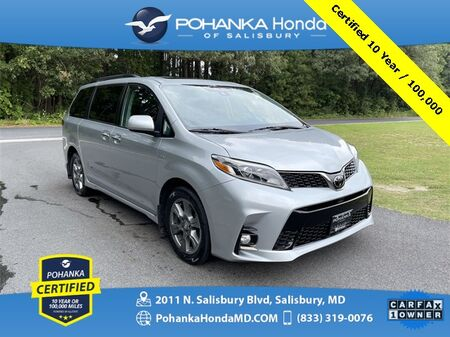 2019_Toyota_Sienna_SE AWD/DVD ** Pohanka Certified 10 year / 100,000 **_ Salisbury MD