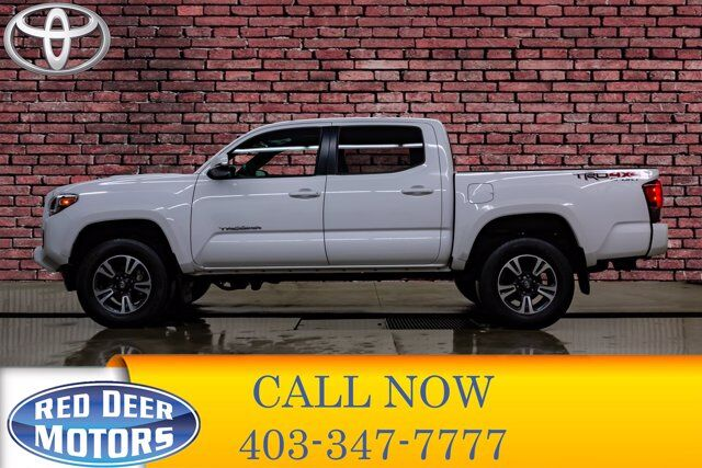 2019 Toyota Tacoma 4x4 Double Cab TRD Sport Manual Leather Roof Nav Red Deer AB