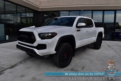 2019 Toyota Tacoma TRD Pro / 4X4 / Automatic / Heated Leather Seats / JBL Speakers / Sunroof / Navigation / Lane Departure & Blind Spot Alert / Snorkel / Bed Liner / Tow Pkg / Only 26k Miles / 1-Owner Anchorage AK