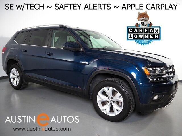 2019 Volkswagen Atlas 3.6L V6 SE w/Technology *BLIND SPOT ALERT, LANE KEEP ASSIST, BACKUP-CAMERA, ADAPTIVE CRUISE, TOUCH SCREEN, POWER LIFTGATE, HEATED SEATS, REMOTE START, BLUETOOTH, APPLE CARPLAY Round Rock TX