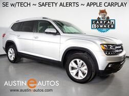 2019_Volkswagen_Atlas 3.6L V6 SE w/Technology_*BLIND SPOT ALERT, LANE KEEP ASSIST, BACKUP-CAMERA, ADAPTIVE CRUISE, TOUCH SCREEN, POWER LIFTGATE, HEATED SEATS, REMOTE START, BLUETOOTH, APPLE CARPLAY_ Round Rock TX