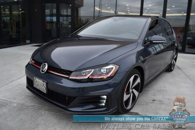 2019 Volkswagen Golf GTI Autobahn / Heated Leather Seats / Fender Speakers / Sunroof / Navigation / Adaptive Cruise / Lane Departure & Blind Spot / Bluetooth / Back Up Camera / 31 MPG / Only 4k Miles / 1-Owner Anchorage AK