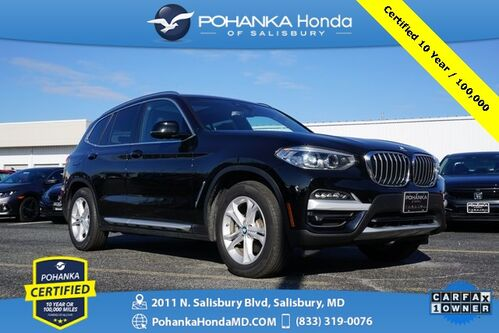 2020_BMW_X3_sDrive30i AWD ** Pohanka Certified 10 Year / 100,000  **_ Salisbury MD
