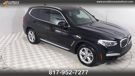 2020 BMW X3 sDrive30i  PADDLE SHIFTER,BUCKET SEATS,PANO MOONROOF,NAV,BCK Euless TX