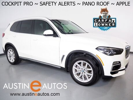 2020 BMW X5 sDrive40i *LIVE COCKPIT PRO, NAVIGATION, LANE DEPARTURE & BLIND SPOT ALERT, BACKUP-CAMERA, PANORAMA MOONROOF, HEATED SEATS, COMFORT ACCESS, REMOTE START, 19 INCH WHEELS, BLUETOOTH, APPLE CARPLAY Round Rock TX