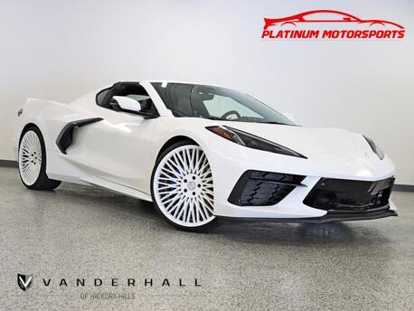 2020_Chevrolet_Corvette Z51 3LT_1 Owner Magnetic Ride Custom Wrapped White 21-22 Forgiato's AGX Exhaust Built In Radar_ Hickory Hills IL