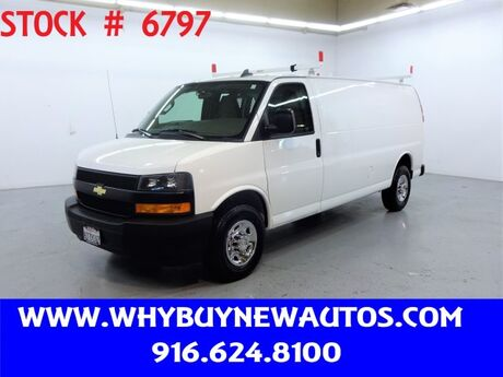 2020 Chevrolet Express 2500 ~ Extended Length ~ Ladder Rack & Shelves ~ Only 32K Miles! Rocklin CA
