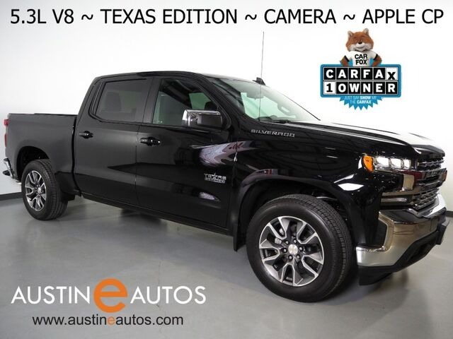 2020 Chevrolet Silverado 1500 Crew Cab LT *5.3L V8 ECOTEC, TEXAS EDITION, BACKUP-CAMERA, COLOR TOUCH SCREEN, HEATED SEATS/STEERING WHEEL, REMOTE START, 20 INCH WHEELS, APPLE CARPLAY Round Rock TX