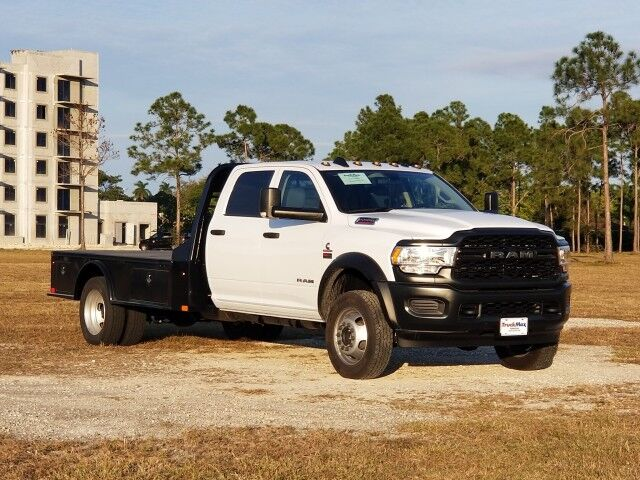 2020 Dodge RAM5500 Crew Cab 11.4 Steel Skirted Flatbed Hauler Truck