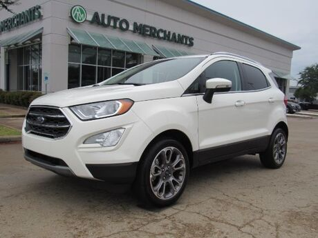2020 Ford EcoSport Titanium NAV, SUNROOF, BLIND SPOT, HEATED SEATS, APPLE CAR PLAY, ANDROID AUTO, BACKUP CAM, Plano TX