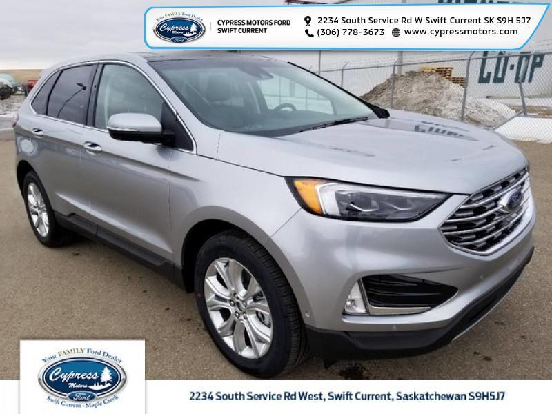 2020 Ford Edge Titanium  - Leather Seats -  Cooled Seats - $298 B/W Swift Current SK