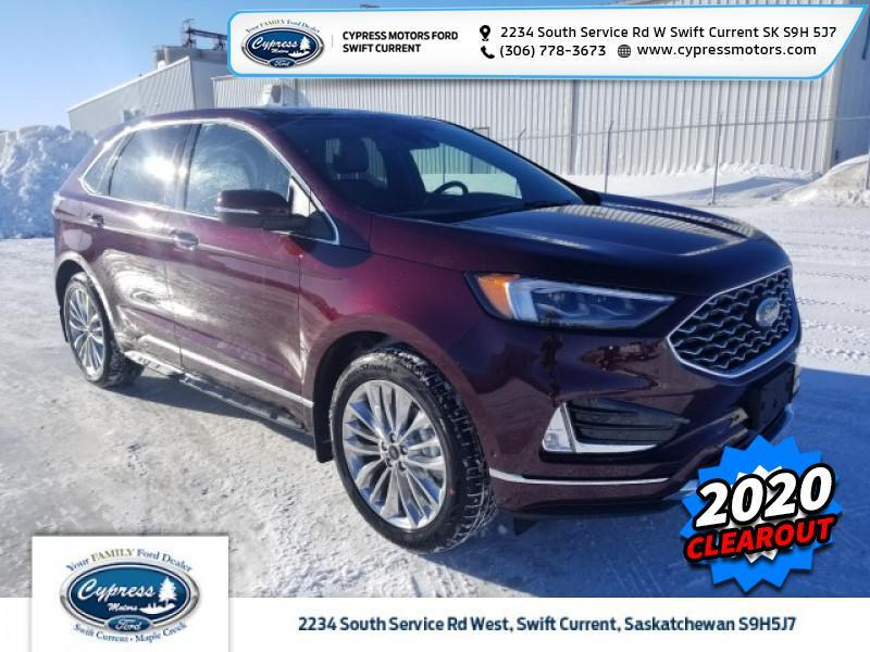 2020 Ford Edge Titanium  - Leather Seats -  Cooled Seats - $327 B/W Swift Current SK
