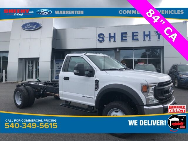 "2020 Ford F-550SD XL 84"" CA Bare Cab/Chassis Warrenton VA"