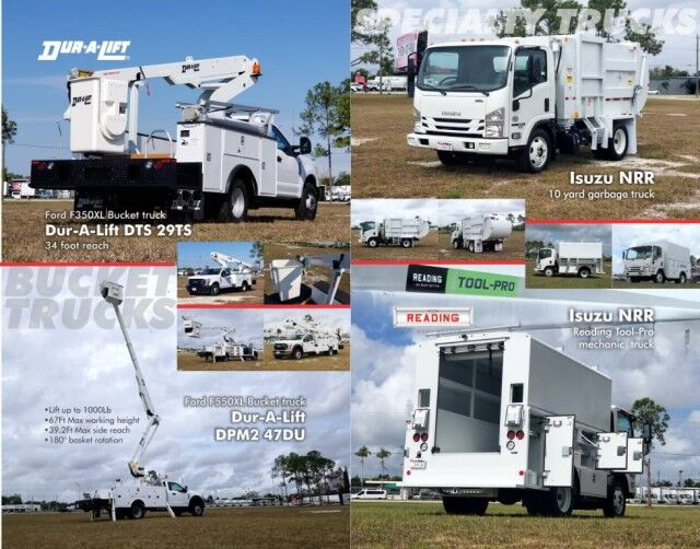 2020 Ford F-550XL Dur-A-Lift DHT-34 HD Telescopic Bucket Truck Homestead FL