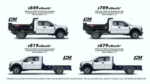 2020 Ford F-550XL from $679xMonth* 9' Steel Contractor dump or Gooseneck Flatbed Homestead FL