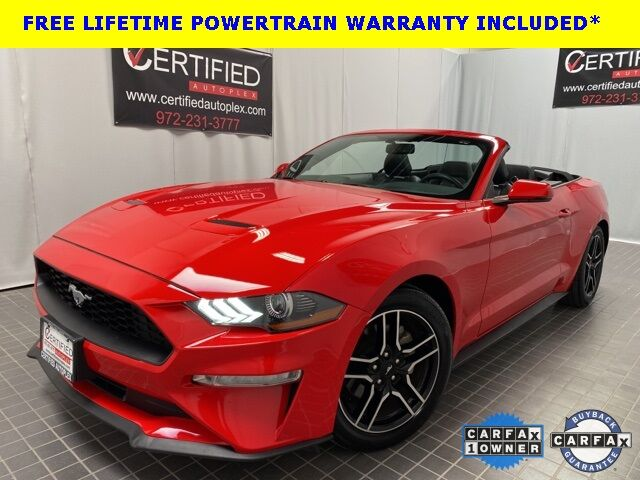 2020 Ford Mustang ECOBOOST PREMIUM CONVERTIBLE HEATED COOLED LEATHER Dallas TX