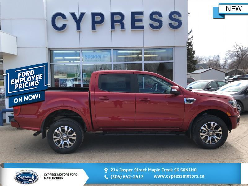 2020 Ford Ranger Lariat  - Leather Seats -  Heated Seats - $296 B/W Maple Creek SK