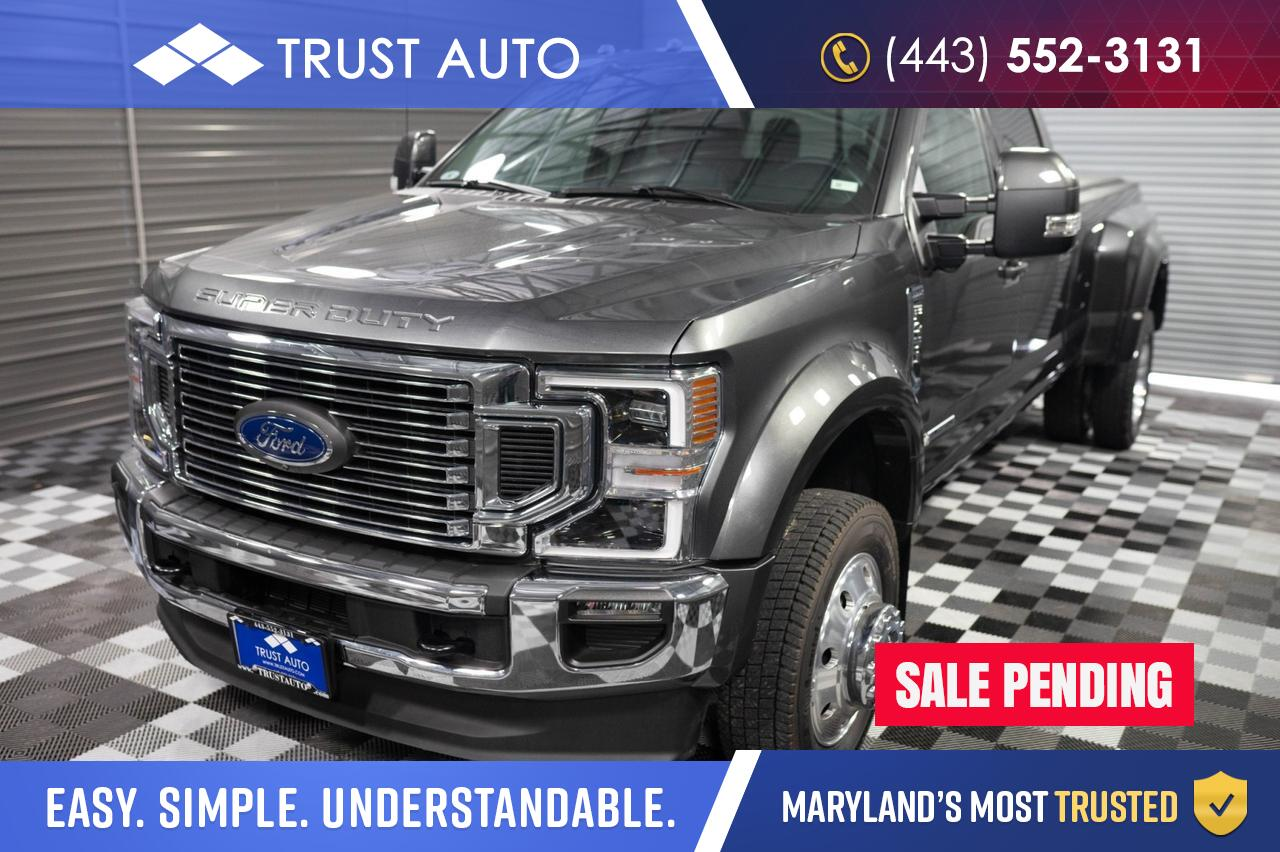 2020 Ford Super Duty F-450 DRW LARIAT 4WD Dually Diesel Power Stroke Pickup Truck Sykesville MD