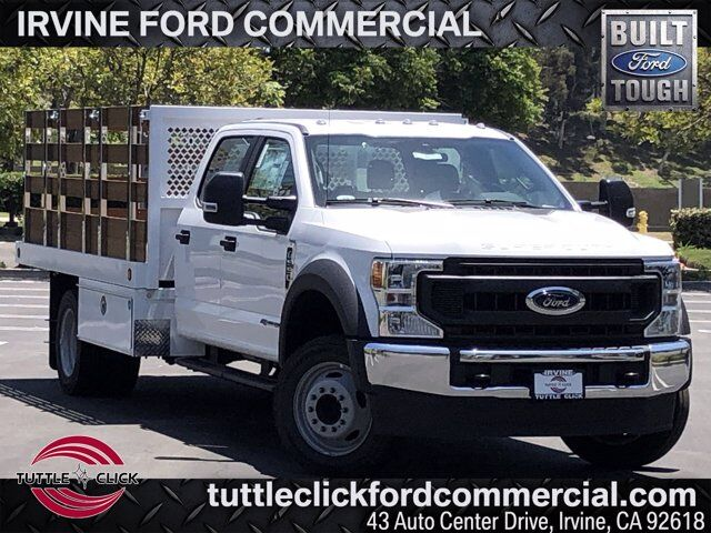 2020 Ford Super Duty F-550 DRW XL Royal 12' Stake Bed Diesel Irvine CA