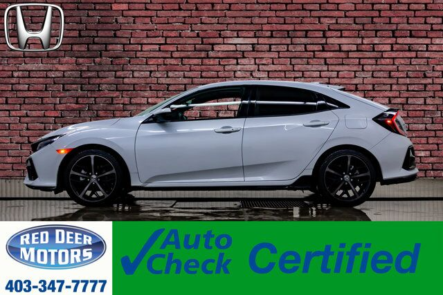 2020 Honda Civic Sport Touring Hatchback Manual Leather Roof Nav Red Deer AB
