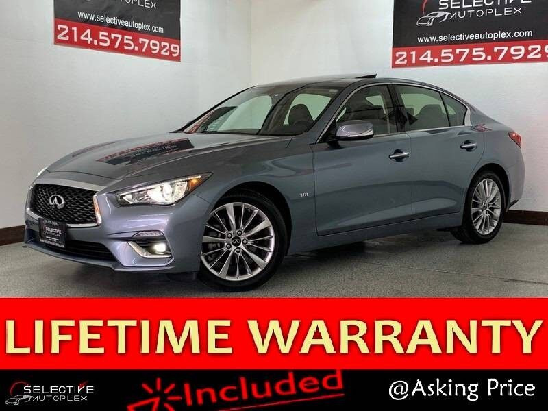 2020 INFINITI Q50 3.0t LUXE, LEATHER SEATS, REAR VIEW CAM, SUNROOF, APPLE CARPLAY Carrollton TX