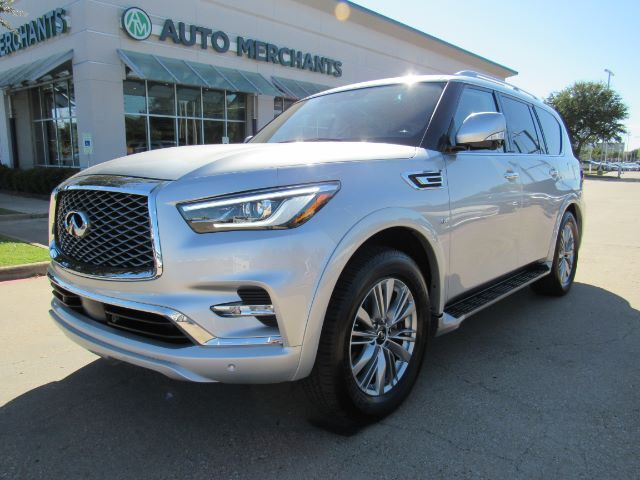 2020 Infiniti QX80 LUXE, BLIND SPOT MONITOR, 360 DEGREE VIEW BACKUP CAM, NAVI, APPLE CAR PLAY, SUNROOF, Plano TX
