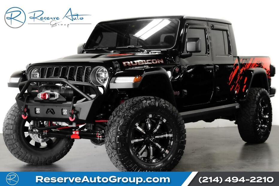 2020_Jeep_Gladiator_Rubicon Full Custom Lifted Wheels Alpine Audio Navigation_ The Colony TX