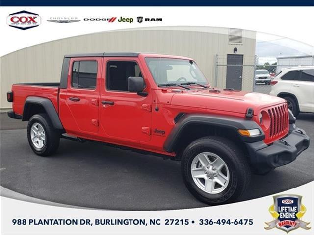 2020 Jeep Gladiator Sport S 4x4 Crew Cab Burlington NC