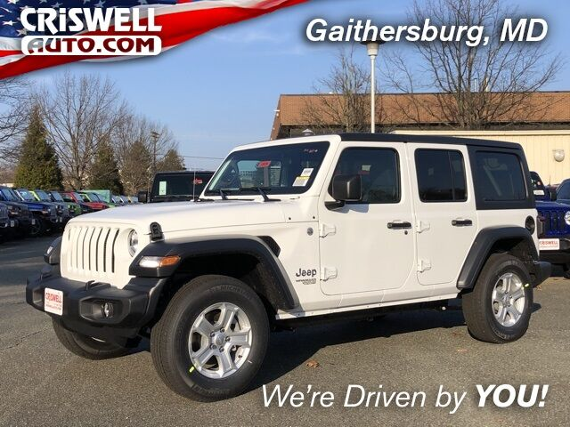 New 2020 Jeep Wrangler Unlimited Sport S 4x4 In Gaithersburg Md