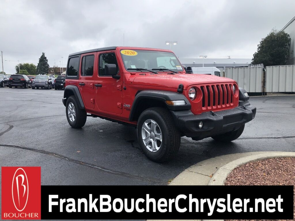 2020 Jeep Wrangler UNLIMITED SPORT S 4X4 Janesville WI