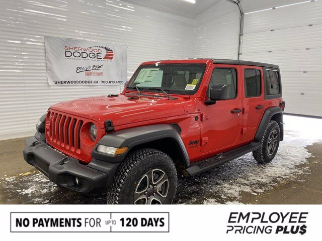 2020 Jeep Wrangler Unlimited Black and Tan Sherwood Park AB